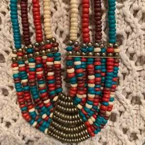 Vintage Bohemian Beaded Statement Necklace